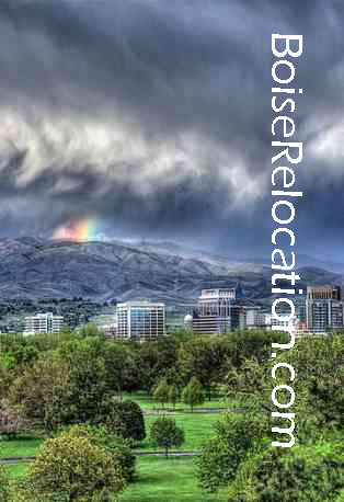 Downtown Boise With rainbow