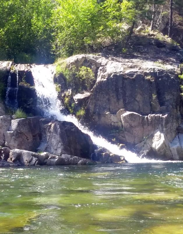 Waterfall Salmon River Idaho